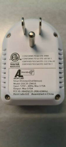 Aeon Labs Smart Dimmer Outlet DSC25-ZWUS