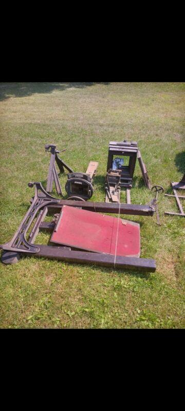 Antique Ansco bellows studio camera 8x10? And Kodak enlarger