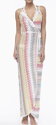Missoni Long Wrap-Front Cover Up Dress Sz.42 US Sz. Small Made In Italy