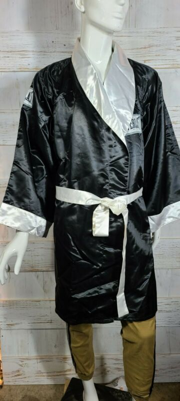 Everlast Boxing Robe Satin Black Size XL @41