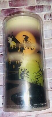 NEW Flameless Spooky LED Candle Bats Witch Trees Colored Moon Halloween / Gothic