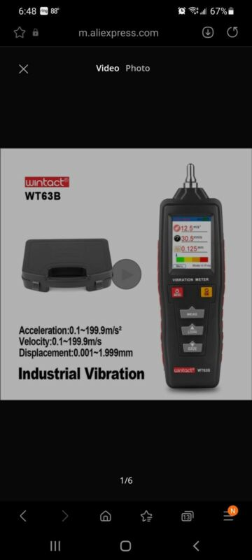 Handheld Portable LED Digital Vibration Sensor Meter Tester Vibrometer Analyzer