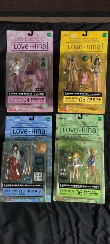 Skyluv Project Love Hina Figures, Mitsune, Mutsumi, Motoko, Su and Sarah