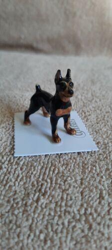 """LITTLE CRITTERZ Dog MinPin """"Zeus"""" Miniature Figurine New LC869"""