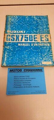 SUZUKI GSX750 E/ES MANUEL D'ENTRETIEN REVUE TECHNIQUE (FR)