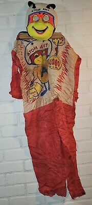 vtg HTF 1963 ATOM ANT Halloween Costume & Mask hanna barbera USED Shipping INCLD