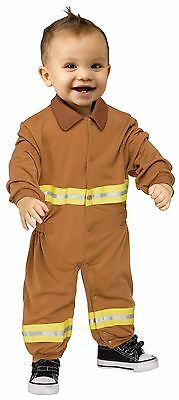 Baby Costume For Men (Boys Realistic Fireman Costume Fire Fighter Man Infant Toddler 12-24 Months)
