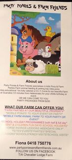 PONY PARTIES /FARM PARTIES/ANIMAL PETTING ZOO Guanaba Gold Coast West Preview