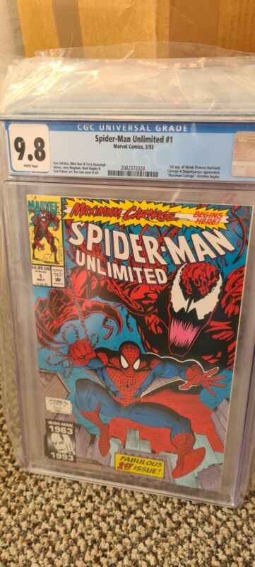 SPIDER-MAN UNLIMITED #1 (1993 Series) - 1st app Shriek - CGC 9.8