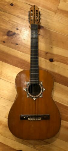 Vintage Classical Guitar Handmade in Mexico
