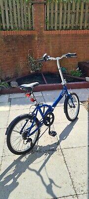 Apollo Tuck 6 gear blue Folding Bike/commuting - unisex