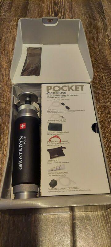 Katadyn 2010000 Pocket Water Filter - Black