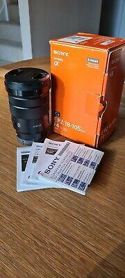Sony G-Series E PZ 18–105 mm F4 G OSS Lens (SELP18105G) + Lens Hood and box