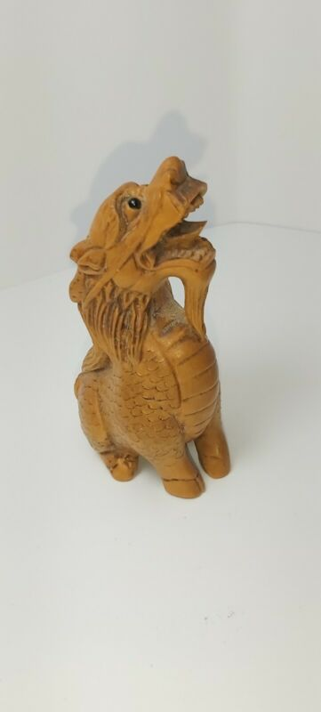 antique Japanese carved Netsuke dragon signed beautiful quality