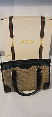 Vintage Gucci Boston Bag with Original Box (Used but in Good Shape)