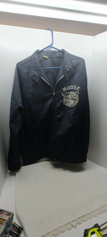 Vintage MOOSE LODGE loyal Order Of Jacket With Pin XL Size