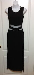 Sexy Black Long Cut-Out Dress: Size Small: brand new w/Tags