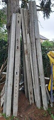 Concrete fence posts 2400mm 2700mm morticed and slotted