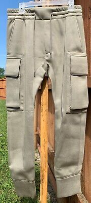 Helmut Lang Tan Curved Leg Cargo Track Pants Size Small