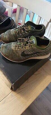 Nike Flyknit Racer Trainers Green UK size 9.5
