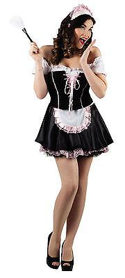 M Sexy Zimmermädchen YVETTE Dienstmädchen Putzfrau Putze Kostüm Maid - Putzfrau Kostüm