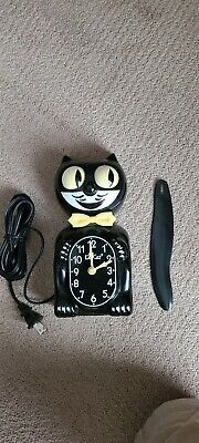 1980's VINTAGE-ELECTRIC-KIT CAT KLOCK-KAT CLOCK ORIGINAL MOTOR USA