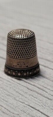 Vintage Sterling Silver 9 Thimble