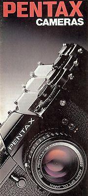 1990s PENTAX  CAMERA BROCHURE -ILX-ME F-SUPER PROGRAM-MG-MX-K1000-AUTO 110-6x7