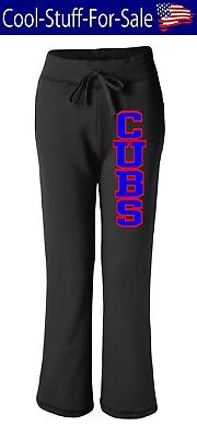 Chicago Cubs Ladies Baseball Sweatpants with Pockets - Ladies Pocketed Sweatpants