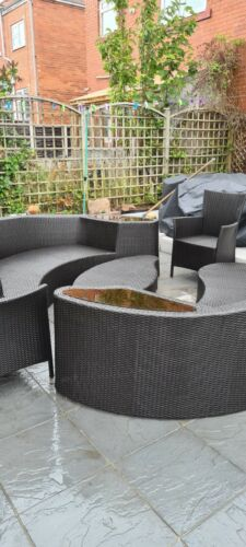 Garden Furniture - Garden furniture patio outdoor 8 seater rattan set without cushions
