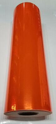 Fluorescent Orange Chrome Mirror Sign Plotter Cutter Vinyl Roll