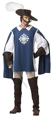 Three Musketeer Medieval Renaissance Adult Men Costume (Musketeer Costume)