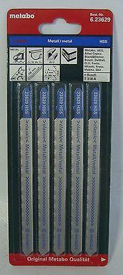 Stichsägeblätter 5 Metabo für Metall 106 / 1,2 mm Classic gefräst / gewellt