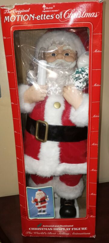 "Vtg Telco 24""  Santa Claus Motionette / Animated Christmas figure"
