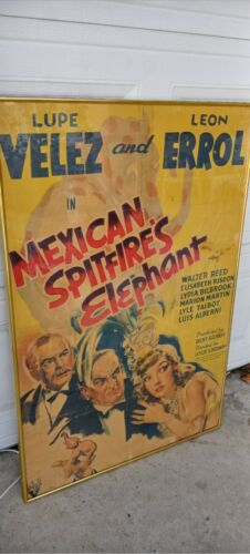 Vintage  mexican spit fire lupe velez elephant   Hollywood Poster