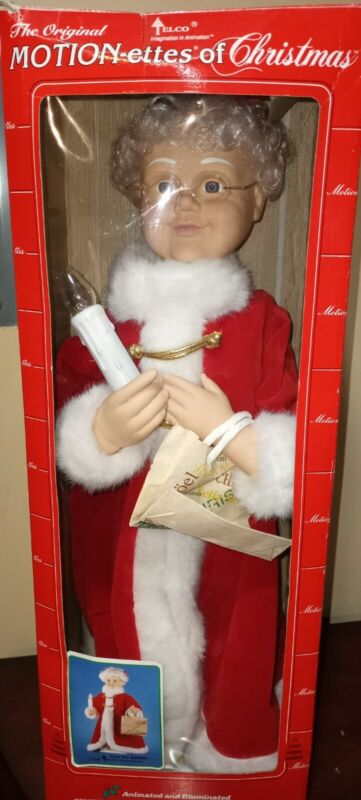 "Vintage Telco 24""  Mrs. Santa Claus Motionette / Animated Christmas figure"