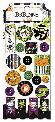 Halloween Fright Delight 3D Button Stickers Bo Bunny BoBunny Paper Crafts NEW