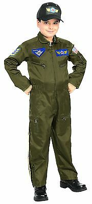 Rubies Air Force Fighter Pilot USA Boys Children Halloween Costume - Air Force Halloween Costume