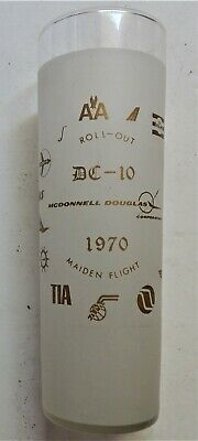 Sandy McDonnell Douglas DC10 Maiden Flight Frosted Glass covers aviation history