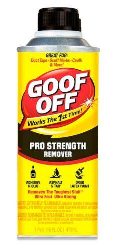 1 Pro Strength GOOF OFF 16 oz Remove adhesive sticker goo solvent WM BARR FG654