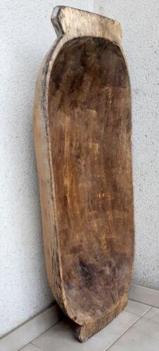 ANTIQUE Primitive Wooden Dough trench Bowl