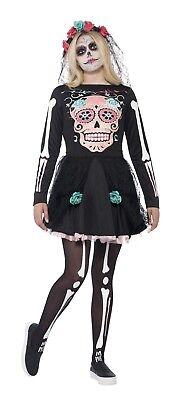 SMIFFY 44341 Calavera Sweetie Bones Dress Tag der Toten Halloween Damen Kostüm (Sweetie Kostüme)