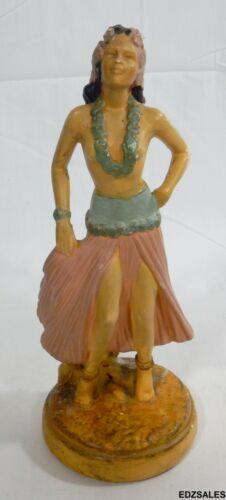 Vintage Hawaiian Hula Girl Chalkware Statue Columbia Statuary Chalkware Figure
