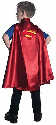 Super Man Costume For Kids (Deluxe Superman Cape for Kids Satiny Fabric w/Embroidered Patch New by)