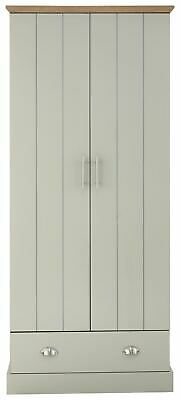 Kendal 2 Door 1 Drawer Wardrobe Bedroom Furniture Grey
