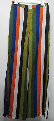 NWT Dance & Marvel Bold Stripe Sheer Wide Leg Pants Women's sz Medium - Leg Dance Pants