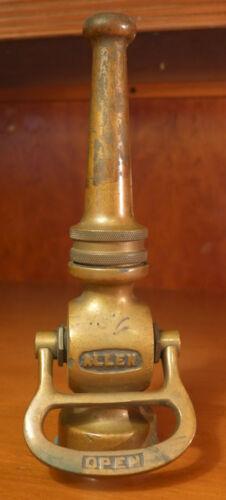 """Vintage 9 1/2"""" Allen Fire Hose Nozzle"""