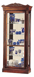 Howard Miller 680-243 (680243) Embassy Lighted Curio Cabinet - Embassy Cherry