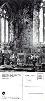 1950's ABBEY CHURCH OF St MARY IONA SCOTLAND UNUSED COLOUR POSTCARD