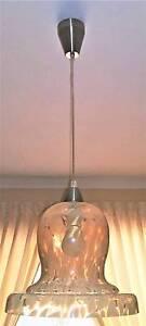 Vintage Art Deco Glass Pendant Light Golden Grove Tea Tree Gully Area Preview